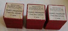 Saint François l'Ami des enfants 3 film fixes éditions Bloud & Gay années 1950