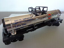 """LIONEL """"O"""" AND """"027"""" GULF OIL CORPORATION SINGLE DOME TANK CAR TANK CAP MISSING"""