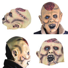 1x Butcher Mask Halloween Party Full Hair Saw Creepy Scary Latex Masks Halloween