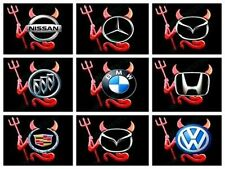 3D RED Color Devil Demon Decal Sticker Car Emblem logo