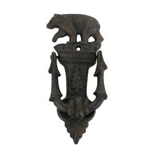 Cast Iron Black Bear Ornate Front Door Knocker Rustic Lodge Hunting Cabin Decor