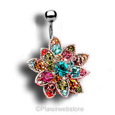 PIERCING NOMBRIL CRYSTAL STRASS STYLE SWAROVSKI COULEUR