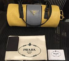 Brand new original Prada Milano women's yellow and grey woman's  bag