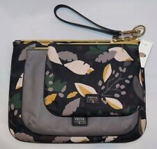 Fossil Ivy Triple Pouch Cosmetic Case Black Floral SWL1327979 NWT