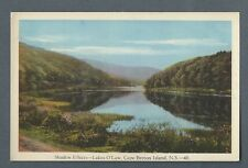 Vintage Postcard Shadow Effects - Lake O'Law, Cape Breton Island, N.S.