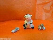 Cow Edible sugar paste decoration cake cupcake toppers birthday