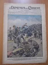 DOMENICA del CORRIERE 12/1919 Elmetti tedeschi in beneficenza, Vigili del Fuoco
