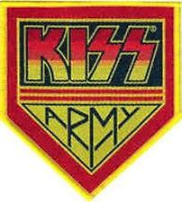 Iron On/ Sew On Embroidered Patch Badge Kiss Army Red