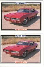 1968 Pontiac GTO baseball card sized cards - Must See !! - lot of 2