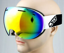 Adults Frameless Dual Lens Antifog Snowmobile Snowboard SKI Snow GOGGLES Mirror