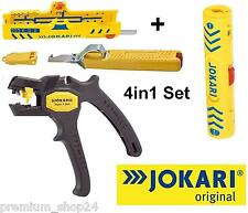 JOKARI 4in1 Elektro Set automatische Abisolierzange SUPER 4 Plus & Kabel Messer
