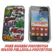 Pellicola+Custodia BACK cover ONOMATOPEA per Samsung Galaxy Ace Plus S7500 (H8)