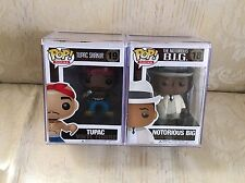 Funko Pop Tupac Shakur & Notorious BIG Rare Retired Vaulted 2012 With Pop Stack