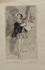 Belle Eau Forte Originale de Daniel Vierge - Personnage Historique - XIXème
