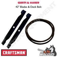 """Craftsman High Lift Blades & Deck Belt for 42""""   138971 & 144959   LT1000"""
