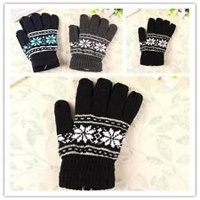Warm Winter Fashion Women's Hot Thermal Knitted Mittens Full Finger Gloves F WL