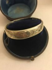 Vintage Silver Ornate Unusual Sterling Bangle Cuff Bracelet Antique Victorian