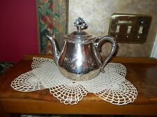 ANTIQUE Elegant STUNNING J B & Co Silverplate #61 Quadruple Plate TEA POT
