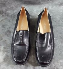 Women's  Mario D' boro Black Slip-On Shoes Sz 36