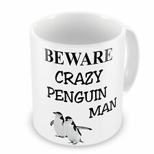 Crazy Penguin Man Novelty Gift Mug