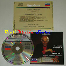 CD GUSTAV MAHLER Symphonie nr.1 GEORG SOLTI decca AMADEUS AM 035  lp mc dvd