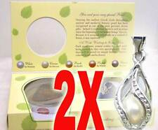 SALE Wholesale 2X boxes helix(drop) pendant Wish Pearl Necklace gift Set-who120