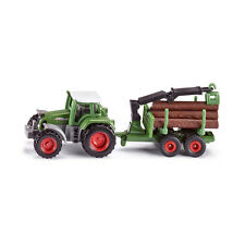 Siku 1645 Fendt Traktor mit Forstanhänger Modellauto (Blister) NEU! °