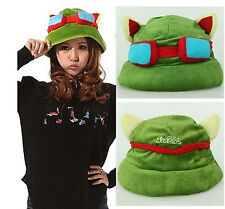 New Hot Plush Suit Style Cool Cute Cosplay Green League of Legends LOL Teemo Hat