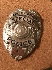 OBSOLETE SPECIAL MASS.  POLICE Hat BADGE Reed & Prince Manufacturing