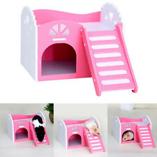 Hamster Squirrels Wooden Nest Holder Small Animal Pink Base Hut Nest House New