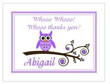 Cute Little Owl Personalized Note or Thank You Cards ~ by The Notecard Lady