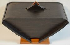 Fine Modernist Craft Phillip Weber Ebony and Tulipwood Wood Box (signed)