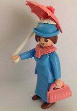 "Playmobil Victorian Lady in Blue Dress with pink purse & parasol  ""NEW"""