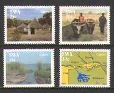 SWA 1986 Caprivi Strip/Map/Boats/Cattle 4v set (n19978)