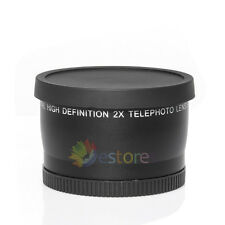 55MM 2.0X  Tele Telephoto Converter lens for Nikon D80 D7000 D3100 D3200 D5100