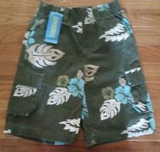 NEW Gymboree Green Floral Cargo Shorts  Boys Size 5