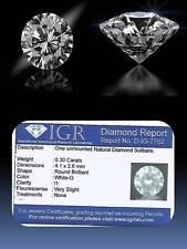Diamante taglio brillante 0,30 ct a prezzo D'INGROSSO! CERTIFICATO IGR GRATIS!