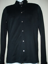 Energie Men's Black Oxford Shirt with Belted detail around Neckline Size Medium