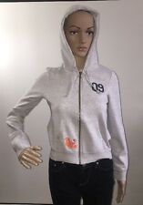 Old Navy Tiny Fit Gray Hoodie Zipper Jacket Embroidered Bird Woodstock - Small