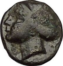 GAMBRION in MYSIA 400BC Apollo Gorgoneion Aegis Ancient Greek Coin RARE i50574