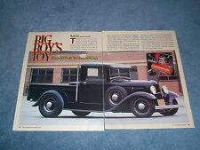 """1934 Ford Hot Rod Pickup Article """"Big Boy's Toys"""" ----From 2006----"""