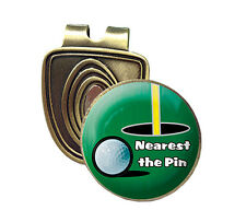 NEAREST THE PIN FUSION CAP CLIP & MAGNETIC GOLF BALL MARKER IN BRONZE