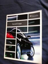 2007 Honda Accord Coupe USA Market Color Brochure Catalog Prospekt