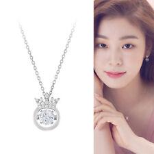 J.ESTINA Mioello Silver 925 Dancing Stone Necklace Rhodium plated C.Z White