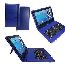 """Deutsche QWERTZ Tastatur Tablet Pc Tasche für 10.1 """" - 10 Zoll Tastatur Blau"""