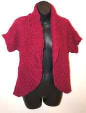 BANANA REPUBLIC CARDIGAN KNIT SWEATER JACKET TOP Women's Maroon Red Winter NEW