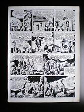 RARE Planche originale LUC HARDY Le maitre du Soleil Artima 1956 N°2