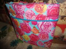 WAKE UP FRANKIE BED OF ROSES PINK RED GOLD FLORAL TWIN DUVET WITH  60 X 81