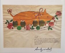 TRADER VICS ANDY WARHOL HAND SIGNED SIGNATURE * PIGLET *  PRINT  W/ C.O.A.