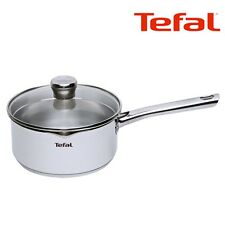 TEFAL Duetto Premium Stainless Saucepan Pot Pan 16cm Induction Oven Cooking